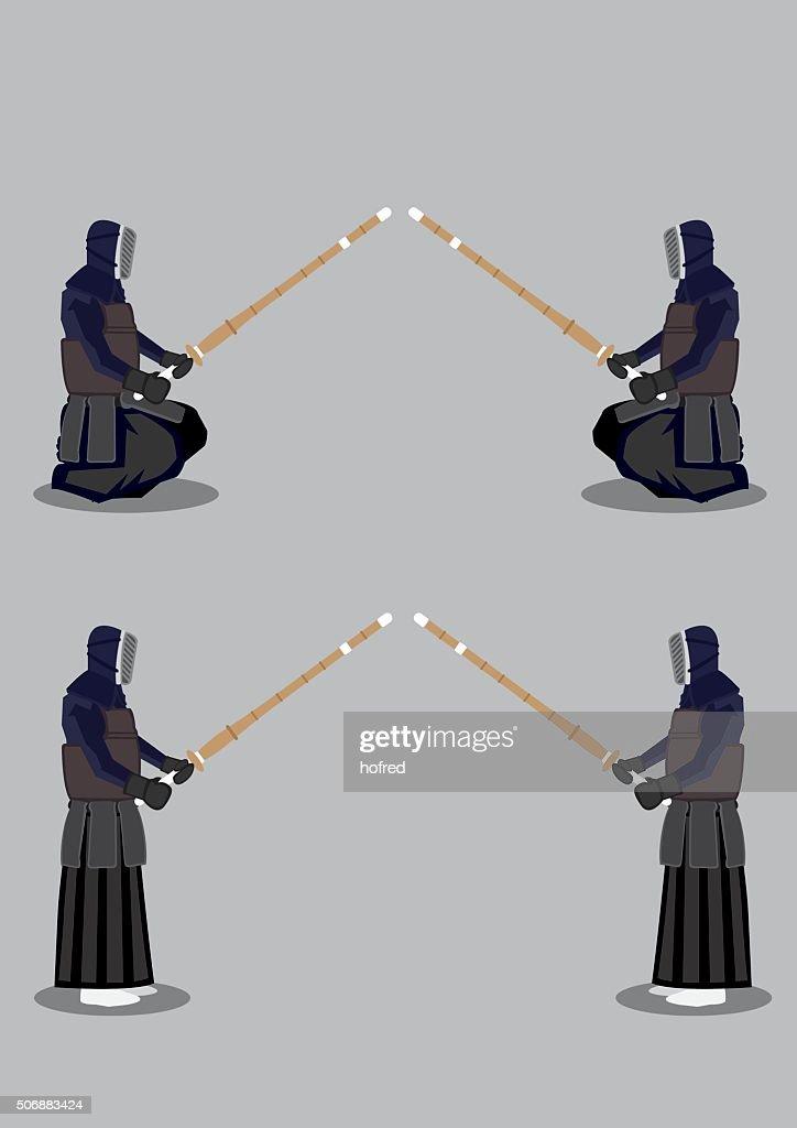 Kendo Martial Arts Preparation Pose