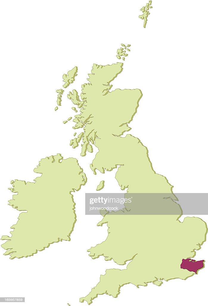UK Kent map