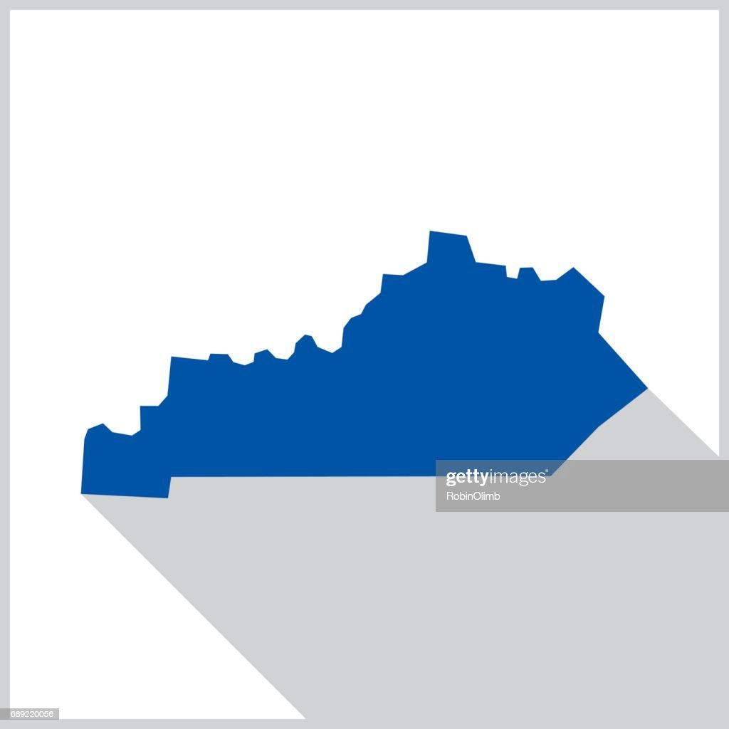 Kentucky Blue map icon : Stock Illustration