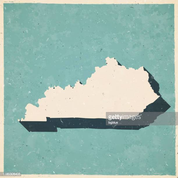 kentucky map in retro vintage style - old textured paper - kentucky stock illustrations