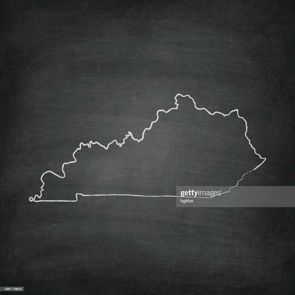 Kentucky Map on Blackboard - Chalkboard