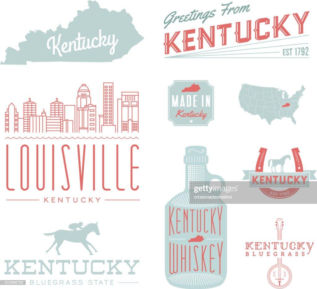 ケンタッキータイポグラフィー : ストックイラストレーション