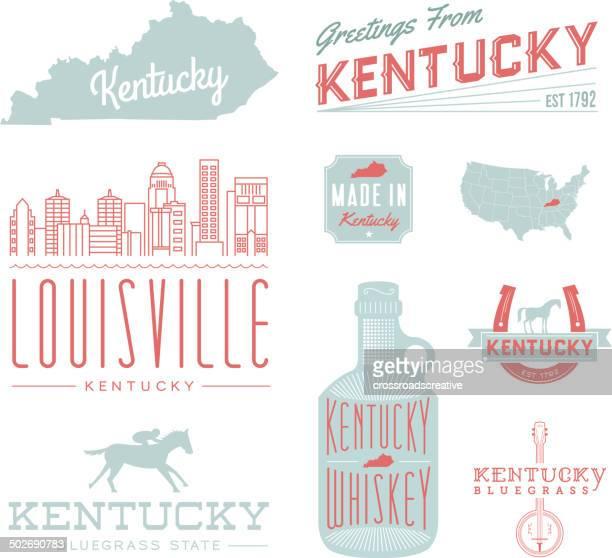 kentucky typography - whiskey stock illustrations