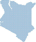Kenya map dots vector outlines illustration blue background. Pixelated map of Kenya with highly detailed border prepared by a map expert