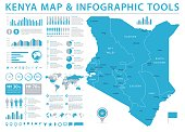 Kenya Map - Info Graphic Vector Illustration