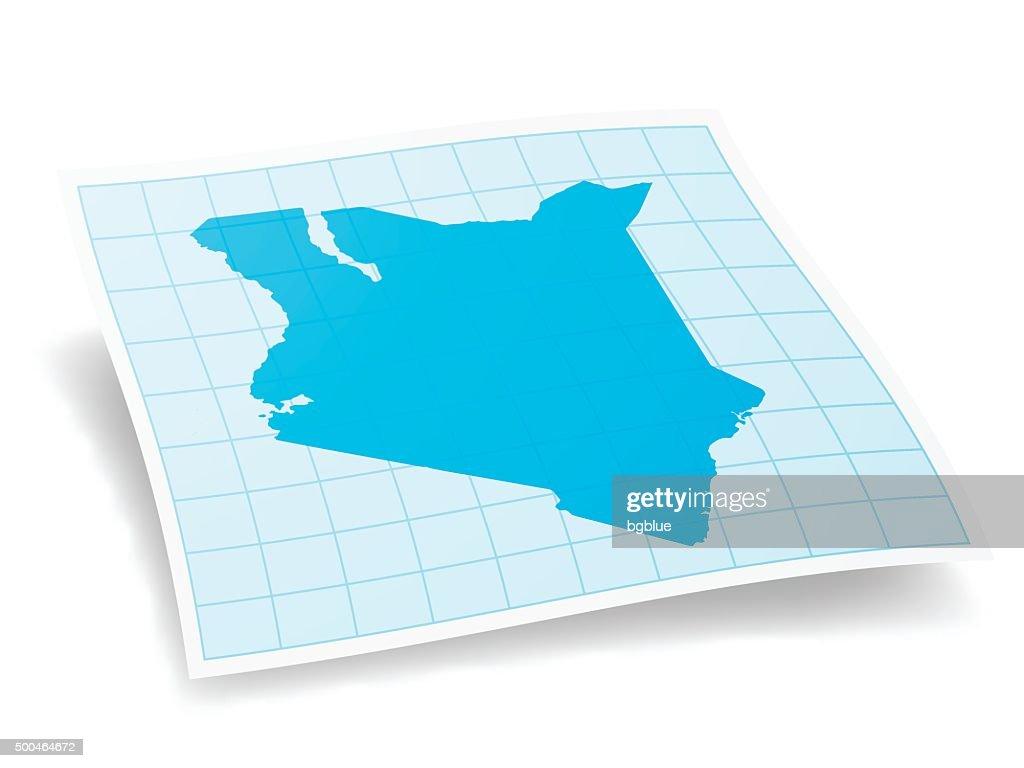 Kenya Map isolated on white Background