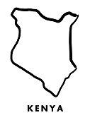 Kenya map outline
