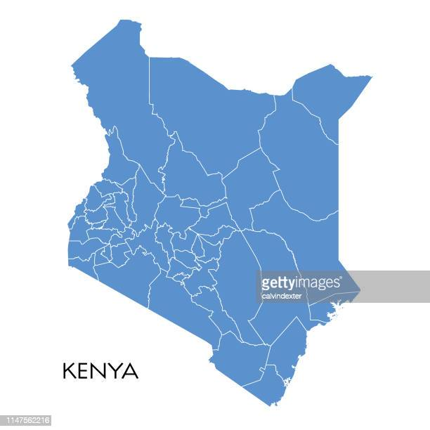 kenya map - kenya stock illustrations