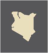 Kenya map vector outline