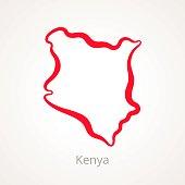 Kenya - Outline Map