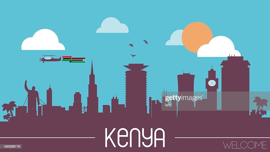 Kenya skyline silhouette
