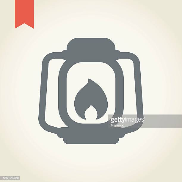 Kerosene lamp icon