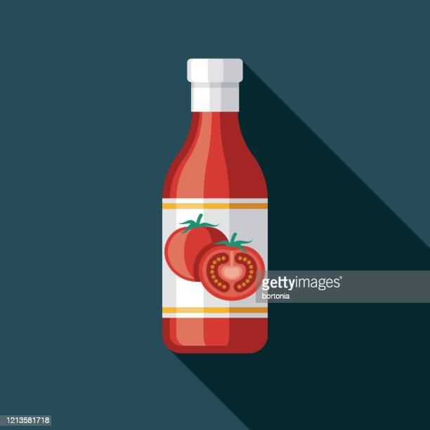 ketchup condiment icon - sauce stock illustrations