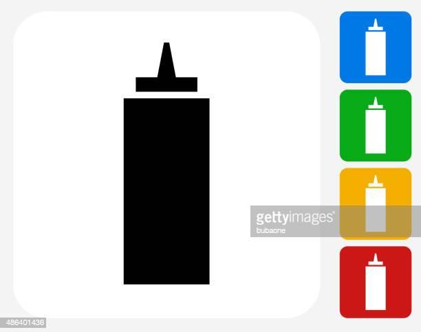 ketchup icon flat graphic design - ketchup stock illustrations, clip art, cartoons, & icons