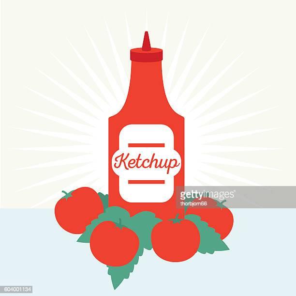 ketchup - ketchup stock illustrations, clip art, cartoons, & icons