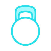 kettle bell Colour Line Icon
