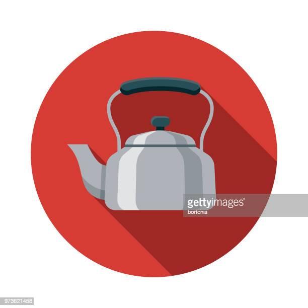 Kettle Flat Design Kitchen Utensil Icon