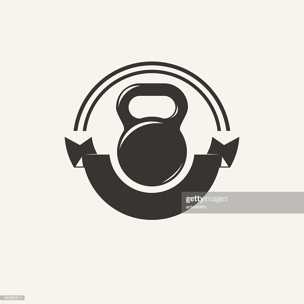 Kettlebell vintage emblem