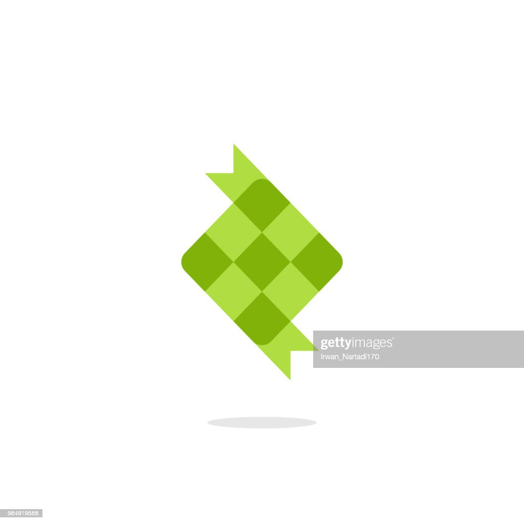 Ketupat icon illustration