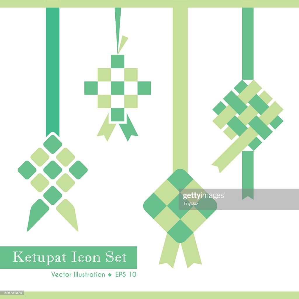 Ketupat icon set