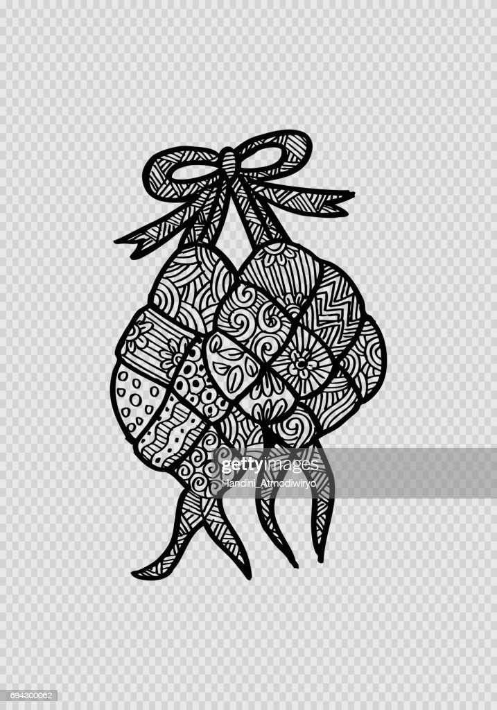 Ketupat  Indonesian fraditional Food.