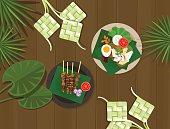ketupat lebaran idul fitri ied food indonesia