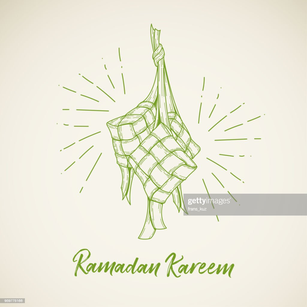 Ketupat Ramadan Illustration