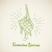 Ketupat Ramadan Illustration
