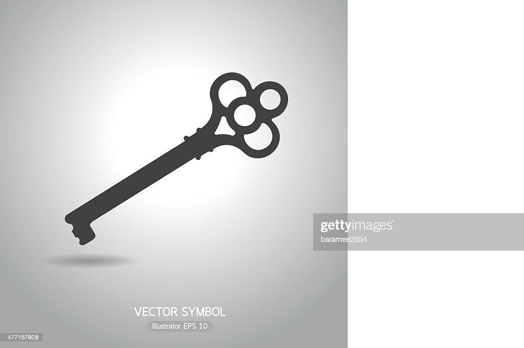 key antique symbol. business concept