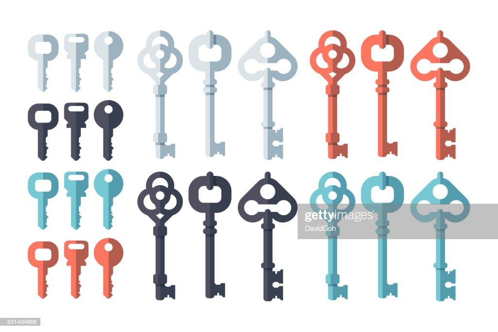 Key Flat Design Set