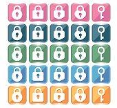 Key icon 25type set F