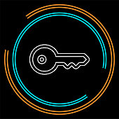 Key icon - vector key symbol. protection
