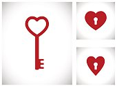key in heart shape