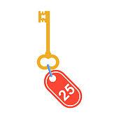 key to hotel room
