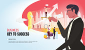 key to success helping business team ver2