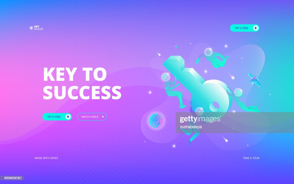 Key to success web banner