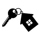 Key with a keychain