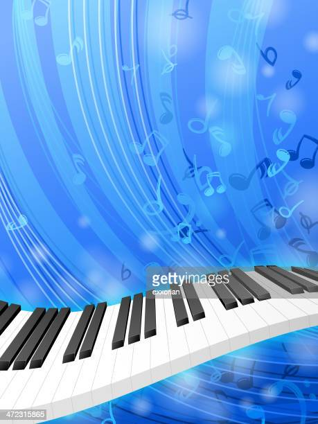keyboard background - bass clef stock illustrations, clip art, cartoons, & icons