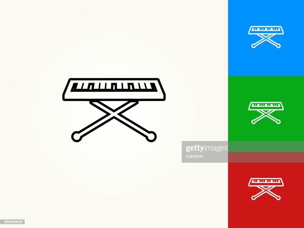 Keyboard Black Stroke Linear Icon