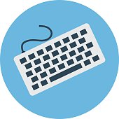 Keyboard Colored Vector Illustration