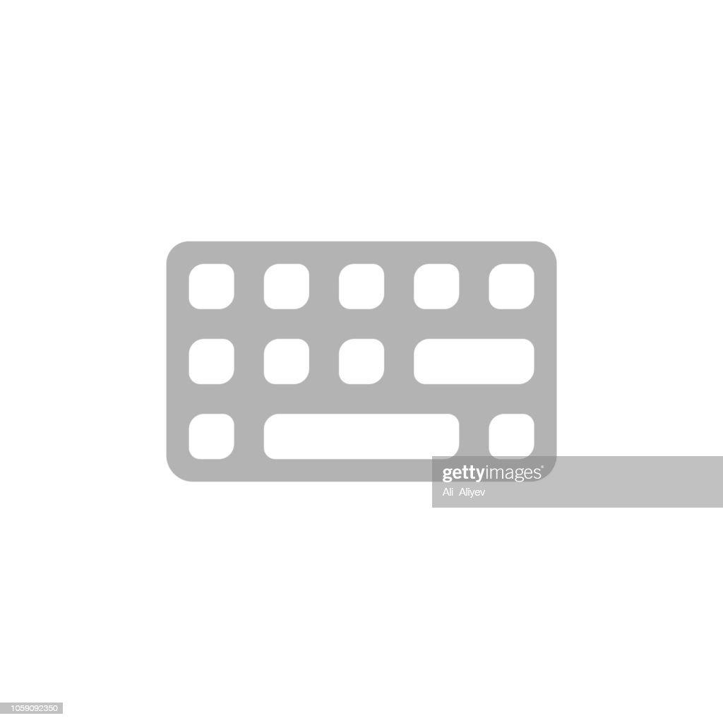 Keyboard flat icon, vector, logo