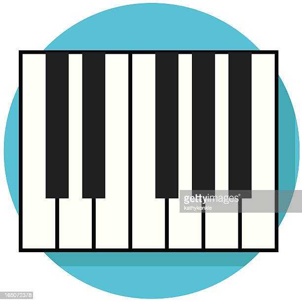 ilustraciones, imágenes clip art, dibujos animados e iconos de stock de icono de teclado - tecla de piano