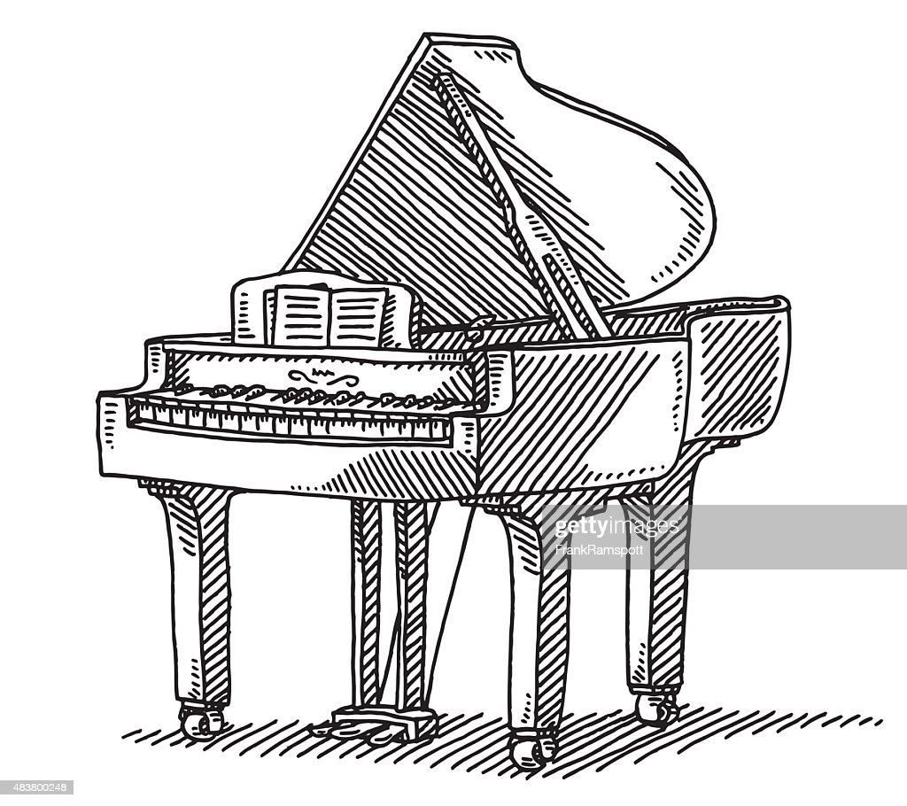 Grand piano musical instrument drawing vector art getty images similar images pooptronica