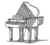 Keyboard Instrument Grand Piano Drawing