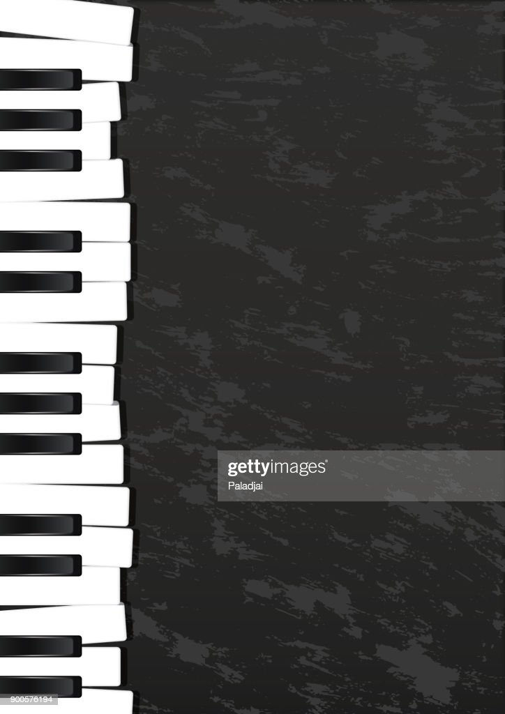 Keyboard, Musical instrument design realistic style and A4 background poster music for commercial vector. Musical instrument and music concept.