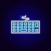 Keyboard Neon Sign