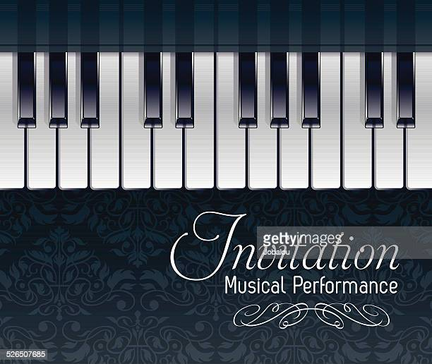 Keyboard Piano Invitation