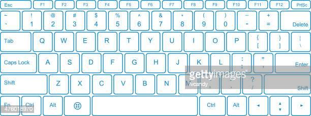 ilustraciones, imágenes clip art, dibujos animados e iconos de stock de teclado - teclado de ordenador