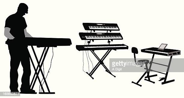 Keyboards Vector Silhouette