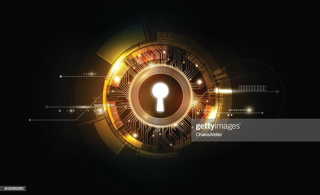Keyhole abstract background, key of success, business concept, vector illustration